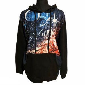 Star Wars Graphic Hoodie Sweatshirt Retro Sci Fi L